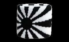 Schweißband Schwarz-Weiß - 7 x 8 cm