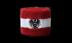 Schweißband Österreich mit Adler, 2er Set - 7 x 8 cm