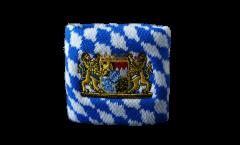 Schweißband Deutschland Bayern mit Löwe, 2er Set - 7 x 8 cm