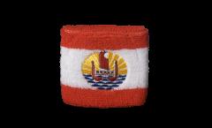 Schweißband Frankreich Französisch Polynesien - 7 x 8 cm