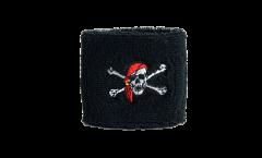 Schweißband Pirat mit Kopftuch - 7 x 8 cm