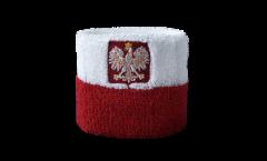 Schweißband Polen mit Adler - 7 x 8 cm