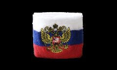 Schweißband Russland mit Wappen - 7 x 8 cm