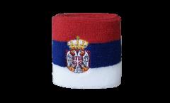 Schweißband Serbien mit Wappen - 7 x 8 cm